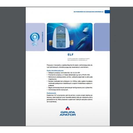 Katalog ciepłomierz Apator Elf JS90-0,6 DN15