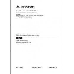 Instrukcja ciepłomierz Apator Elf  JS90-0,6 DN15