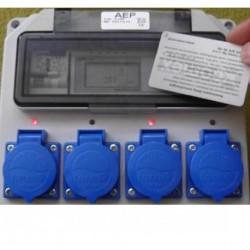 Rozdzielnica 4 gniazda przedpłatowa (RFID)